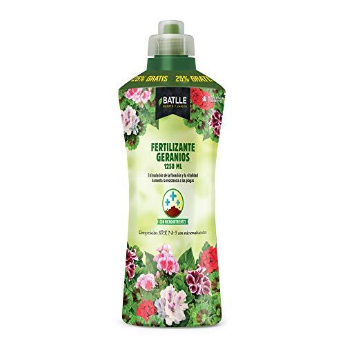 Abonos - Fertilizante Geranios Botella 1250ml - Batlle