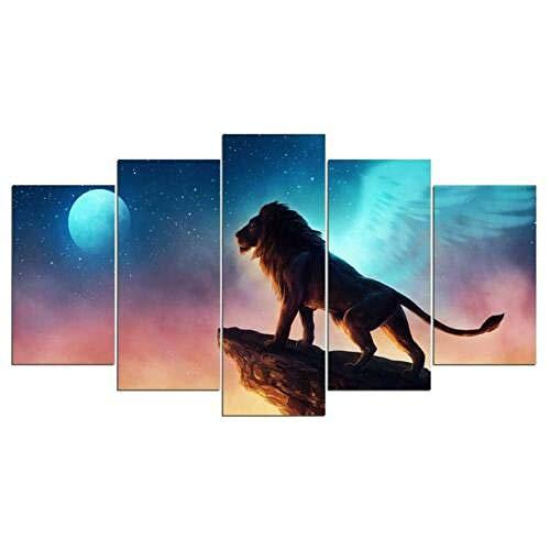 YB Frei als EEN vogel canvas kunstdruk voor wanddecoratie schilderij 20x30cm-2p 20x40cm-2p 20x50cm-1p geen lijst