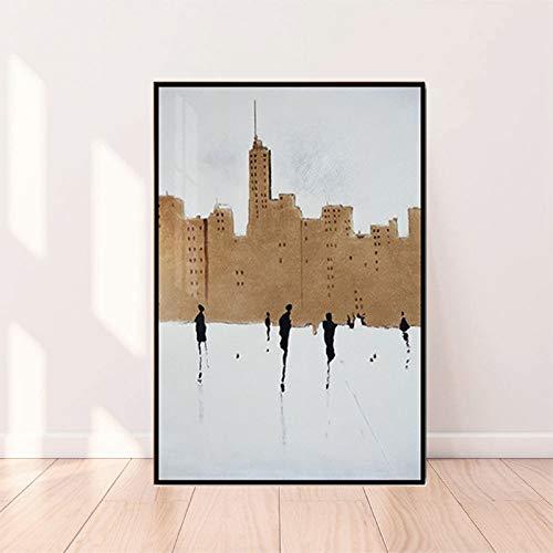 BGFDV Póster Abstracto de la Calle británica, Lienzo Blanco Moderno, Estilo artístico, Cuadro de Pared para Sala de Estar, decoración del hogar, póster nórdico