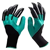 HASTHIP® Gardening Gloves with 1 Pairs Claws   Puncture Resistant, Large Gloves, Reusable Rubber  ...
