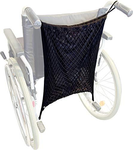 Sunnybaby 30169- Rollstuhlnetz Einkaufsnetz für Rollstühle & Rollatoren mit praktischem Sichtschutz Innenfutter universelle Befestigung Farbe: SCHWARZ | Qualität: MADE in GERMANY, extra groß, schwarz