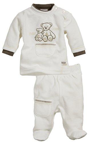 Playshoes GmbH Schnizler Baby - Jungen Jogginganzug Nickianzug Bär mit Strampelhose, 2-teilig, Oeko-Tex Standard 100