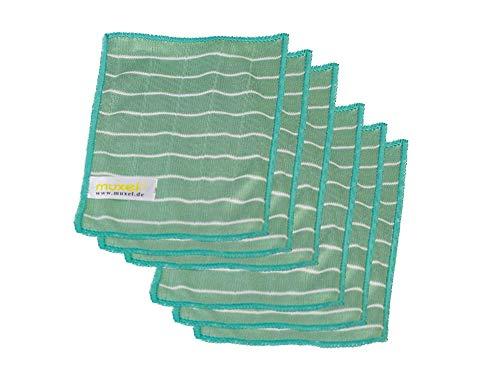 Muxel Brillenputztuch Microfaser Reinigungstücher Bambus Brillen u. Handy Tuch 6 Tücher