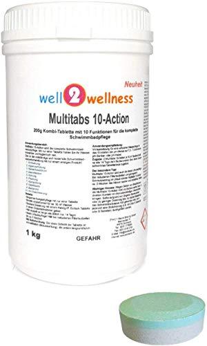 well2wellness Chlortabletten Multitabs 10-Action 200g mit 10 Funktionen 1,0 kg