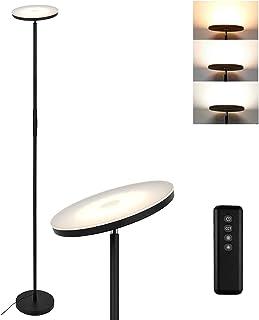 Anten Lampadaire Sur Pied 20W, Lampe LED avec Télécommande et Bouton Tactile, Dimmable Continu 5%~100%, Réglage Continu de...