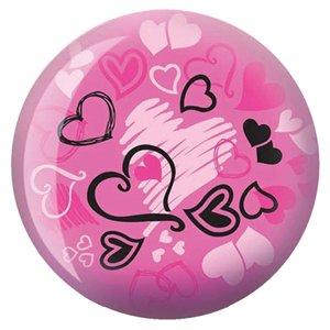 Brunswick Products Hearts Glow Viz A Bowling Ball PinkBlack 12 lb