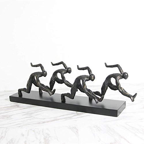 YUQIYU El arte abstracto Escultura Adornos Correr hogar moderno minimalista sala de estar dormitorio TV Gabinete del pasillo del hotel Decoración (58 * 10 * 18 cm) elegante y hermosa