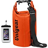 Unigear 600D Dry Bag 2L/5L/10L/20L/30L/40L Waterproof Sack with Phone Dry Bag and Long