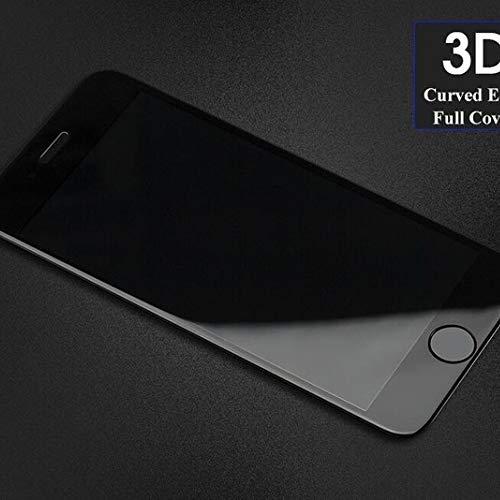 QSONGL Para iPhone 6 6s 7 8 Plus X XS MAX 3D Protector de Pantalla de Borde Curvo Película 9H Dureza HD Transparente Resistente a los arañazos Cristal Templado sin Burbujas