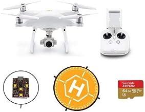 "$1619 » DJI Phantom 4 Pro V2.0 Quadcopter Drone with Standard Remote Controller - with Basic Kit, 64GB MicroSDXC Card, 36"" Foldable Landing Pad - Firehouse Technology ARC White Strobe"