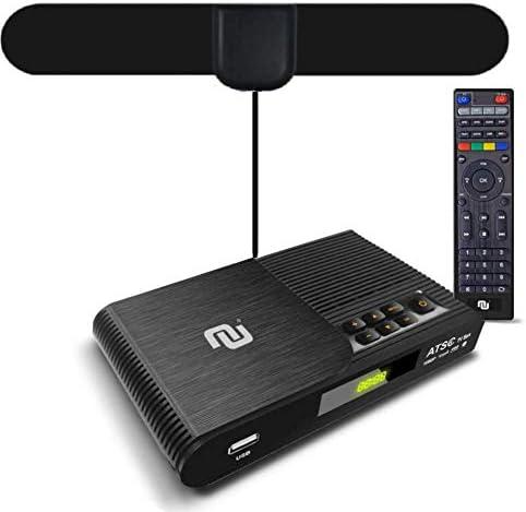 NUNET TV Converter Box Digital to Analog ATSC Streaming Media Players VHF/UHF HD TV Box PVR DVR Recorder w. 35 Miles ...