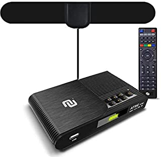 NUNET TV Converter Box Digital to Analog ATSC Streaming Media Players VHF/UHF HD TV Box PVR DVR Recorder w. 35 Miles Over ...