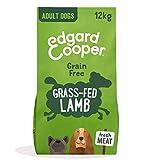 Edgard & Cooper Cibo Secco per Cani Adulti Crocchette con Carne Fresca di Agnello Senza Cereali 12kg in Confezione Biodegradabile, Alimentazione Naturale per Cani di Taglia Grande