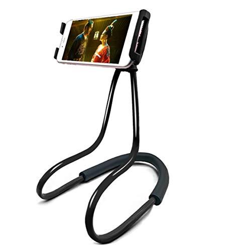 Soporte de Clip para teléfono móvil con cuello colgante multifunción creativo, soporte plano de escritorio montado en el cuello, soporte perezoso Universal para cama