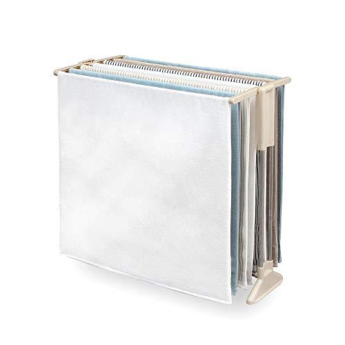 アイリスオーヤマ(IRIS) タオル掛け・タオルスタンド ホワイト 商品サイズ(cm):幅約85.5×奥行約45.2×高さ約82 ステンレス STH-86KR