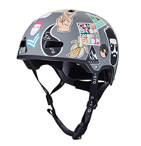 MICRO Helm V2 3D, Bedruckt, Unisex, Stickers (Mehrfarbig), S