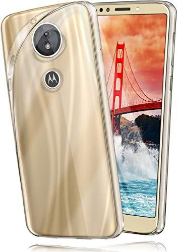 moex Aero Hülle kompatibel mit Motorola Moto E5 Plus - Hülle aus Silikon, komplett transparent, Klarsicht Handy Schutzhülle Ultra dünn, Handyhülle durchsichtig einfarbig, Klar