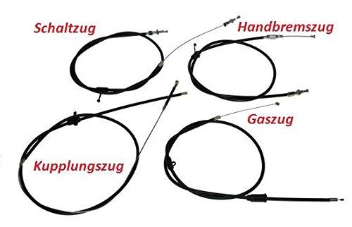 Bowdenzug Satz einbaufertig für Hercules Prima 4, 5, S, N Mofa, Moped, Gaszug, Kupplungszug, Bremszug, Schaltzug