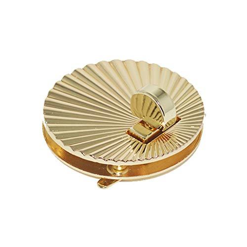 Joocyee, Cierre de Broche con Forma de Concha de Abanico, herrajes de Metal para Bolso de Bricolaje, Bolso de Hombro, Exquisito Cierre Giratorio con festón, Dorado