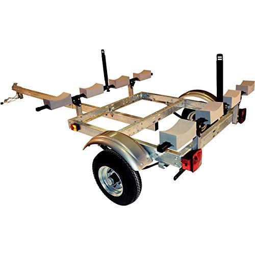 Malone XtraLight 4 Kayak Stacker Trailer Package