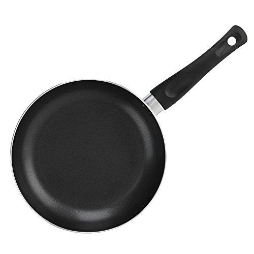 COOKSMARK Poêle à frire, poêle aluminium noire Poêle de Cuisine sans PFOA Anti Adhésive diamètre de 20 cm Compatible à tous feux sauf induction