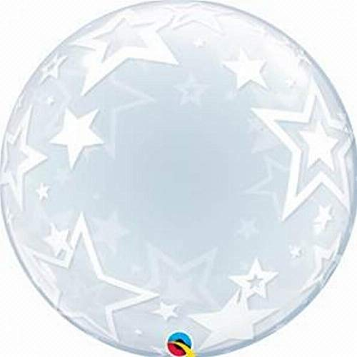 Qualatex 108.384,3cm Deco stylisches Sterne 2,5cm Bubble Ballon, 24