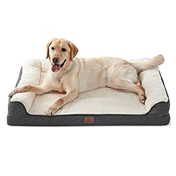 🐩 VIELSEITIGES SOFA-BETT: Mit den Bedsure Pet-Schlafsofas können sich Ihre pelzigen Babys bequem entspannen und ausruhen, z. B. in Zimmern, Kisten oder sogar auf Autos. Ideal für große Hunde oder mehrere Katzen Überwachen Sie Ihr Bett, Ihre Couch, Ih...