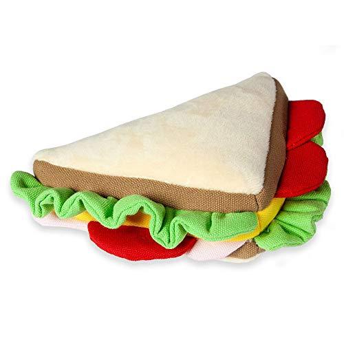 Karlie 521585 HUNDESPIELZEUG PLÜSCH Sandwich, 19x11x6CM