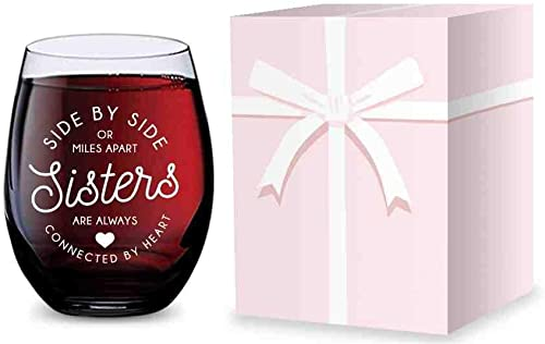 popular Stemless Wine lowest Glass for Sisters - Made of Unbreakable Tritan Plastic and Dishwasher Safe wholesale - 16 ounces sale