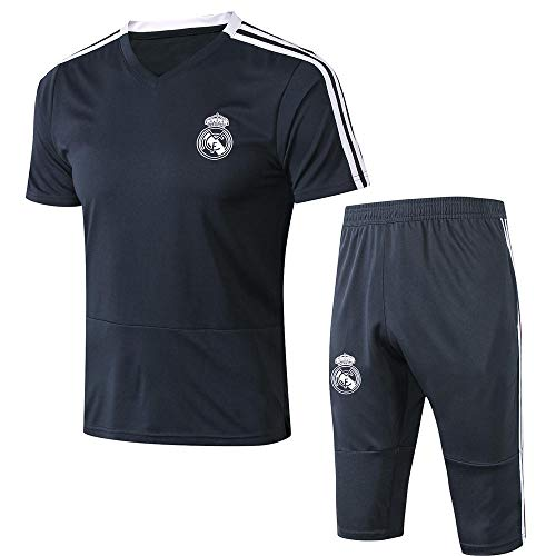 Zhaojiexiaodian Voetbal Trainingspak Real Madrid Korte mouw & Shorts Casual Jersey pak