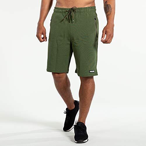 SMILODOX Herren Shorts Satisfied, Größe:M, Farbe:Khaki
