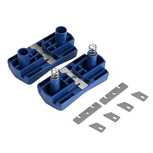 Bordatrice per bordi in legno in PVC, rifinitore per bordi a 2 bordi Rifilatrice manuale Strumento per la lavorazione del legno Mini rifinitore per bordi in legno melaminico