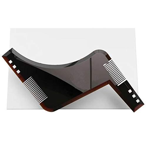 Vkospy Barba Plantilla Styling Shaping Barba Peine All-In-One Herramientas de plástico Recorte de Plantilla Barba Peine