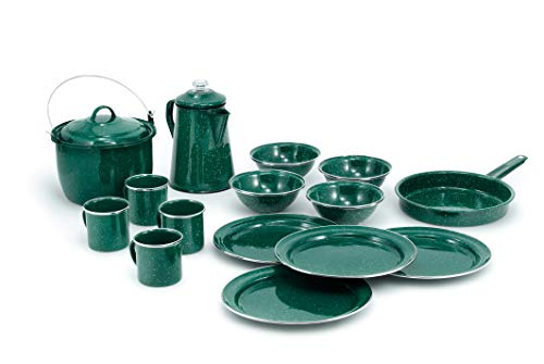 GSI Outdoors Pioneer Enamelware Camp Set with All...