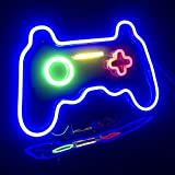 EASYG Game Neon Sign Game Room Blue Gamer Console Neon Lights 16''x 11''Lights LED Neon Signs Gaming Wall Lights Decor for Bedroom Children Gaming Zone Party Decoration