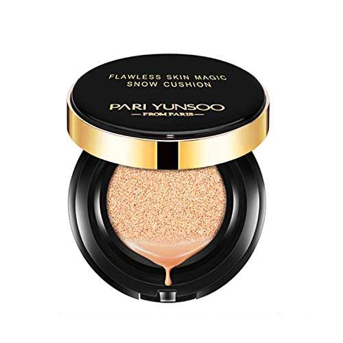 Magic Snow Flawless Air Cushion CC Cream Compact Foundation Natural Cover Concealer, Firstfly Matte Full Coverage Moisturizing Oil Control Cushion for Women Girls (Skin Tone)
