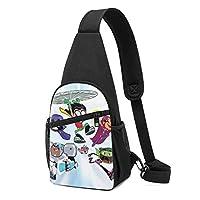 Teen Titans Go! (5) おしゃれ 人気 斜めがけバッグ チェストバッグ 軽量撥水 大容量 携帯便利 収納 旅行 通勤 通学 多機能に レジャーバックパック 男女兼用