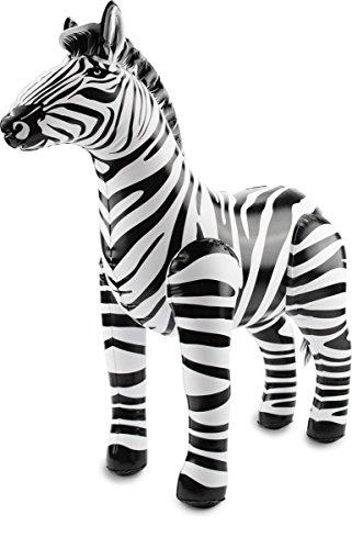 cama24com Aufblasbares Zebra Safari-Dschungel-Motto-Party-Deko Aufblastier Palandi®