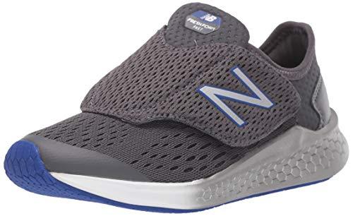 New Balance Boys' Fast V1 Running Shoe, Magnet/UV Blue, 2.5 W US Little Kid