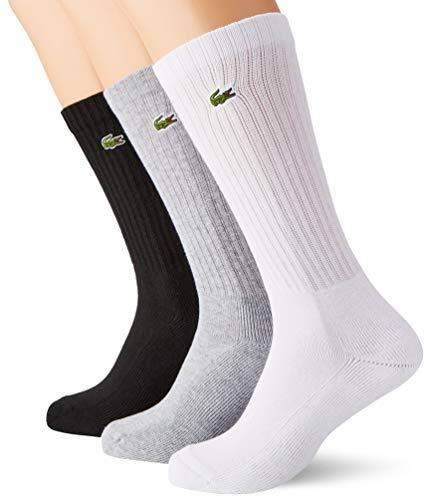 Lacoste Herren RA2099 Socks, Argent Chine/Blanc-Noir, 41-46