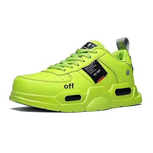 XIDISO Unisex-Erwachsene Freestyle Hohe Sneakers Herren Mode Turnschuhe Freizeitschuhe Sportschuhe,43 EU,Gelb
