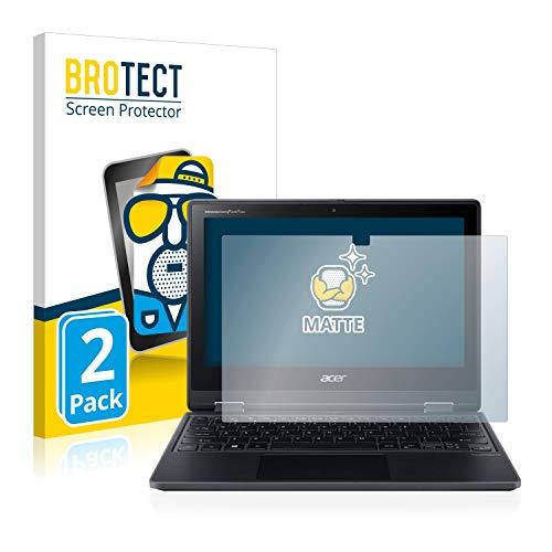 BROTECT 2X Entspiegelungs-Schutzfolie kompatibel mit Acer TravelMate Spin B3 Bildschirmschutz-Folie Matt, Anti-Reflex, Anti-Fingerprint