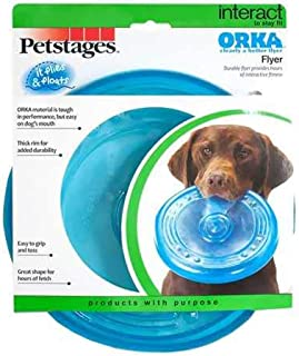 Petstages Orka Flyer Rubber Chew and Fetch Dog Toy Chew Toys