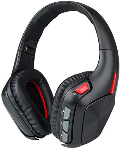 YAYY draadloze Bluetooth-headset met draadloze stereo hoofdtelefoon in draadloze en bekabelde modus met geïntegreerde microfoon en zachte oorbeschermers voor mobiele tv's (upgrade)