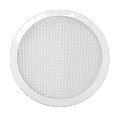 Dream Lighting 12volt DC LED 8.5 Inches Panel Light for RV Trailer Coach Campervan Boat Marine Indoor Roof Ceiling Lighting-Warm White, 800 Lumens