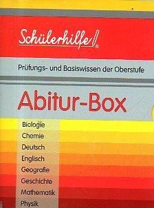 Schülerhilfe - Abitur-Box - 8 Bände im Schuber - Prüfungs- und Basiswissen der Oberstufe - Biologie, Chemie, Deutsch, Englisch, Geografie, Geschichte, Mathematik, Physik