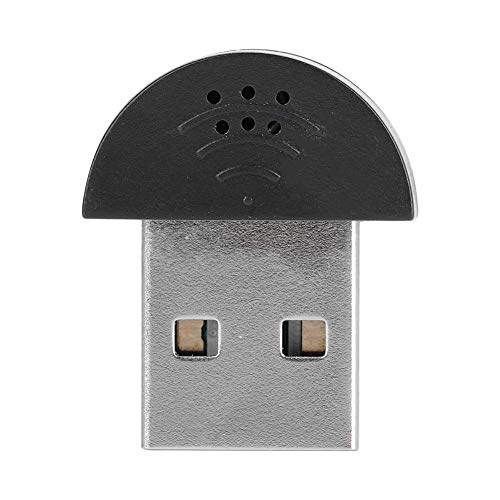 【  】Ruisonderdrukking Audio-opname Microfoon PC USB-microfoon, mini 360 ° omnidirectionele chatten voor Skype(black)