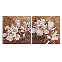2ピース花キャンバスプリント絵画壁装飾プリントアート写真額入り壁掛け装飾ホームオフィス