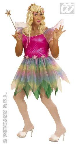 Widmann wdm5705 a – kostuum voor volwassenen fee van de regenboog, meerkleurig, XL