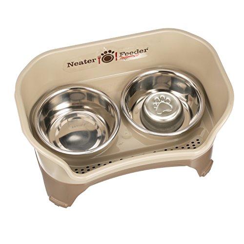 Neater Feeder Express (Mittlerer bis großer Hund, Rotguss) & Kombinationspaket der Schüssel für gemütlichere Fütterungen